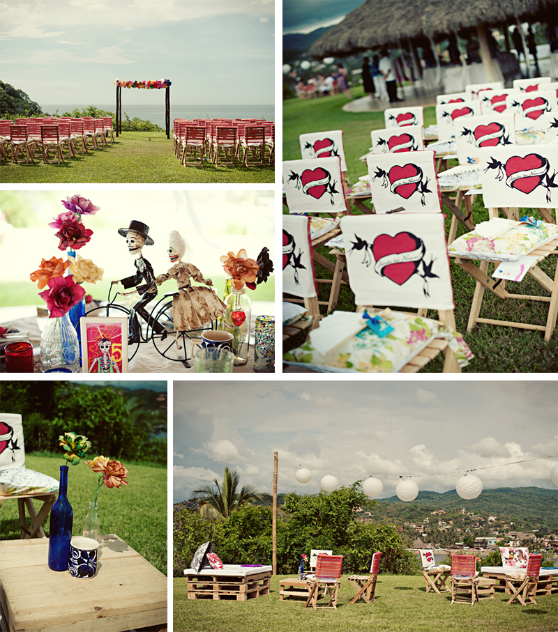 Allison and Jeff\'s Day of the Dead themed Sayulita wedding.