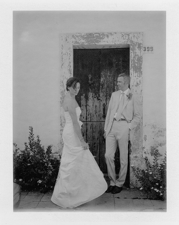 Black and white polaroid wedding photography by Jillian Mitchell