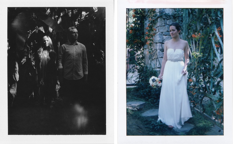 Polaroid wedding photography by destination film wedding photographer Jillian Mitchell