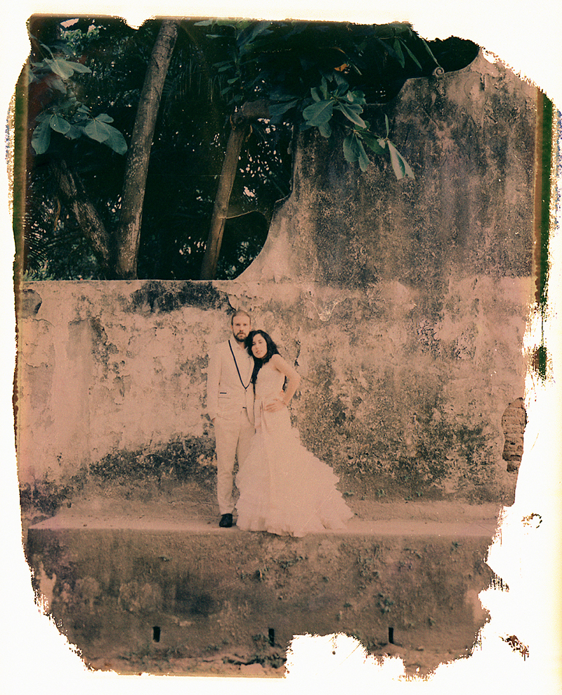 Polaroid wedding photography Mexico
