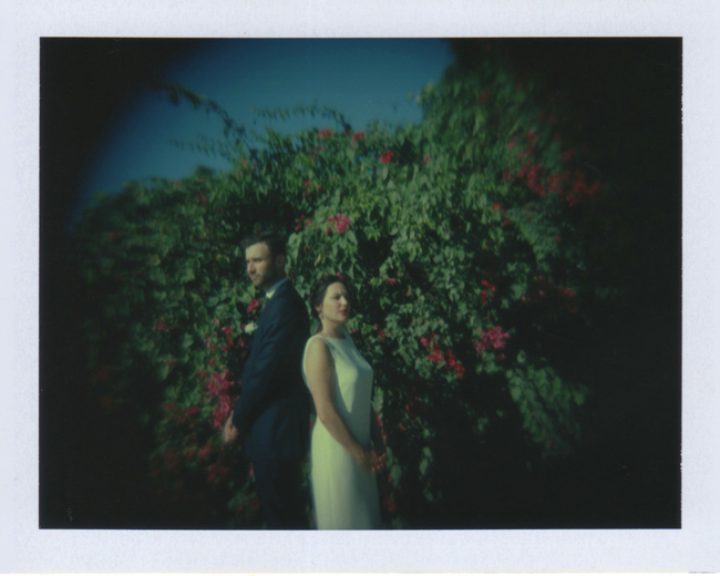 Wedding Polaroid Photography Bridal Portrait in Mexico