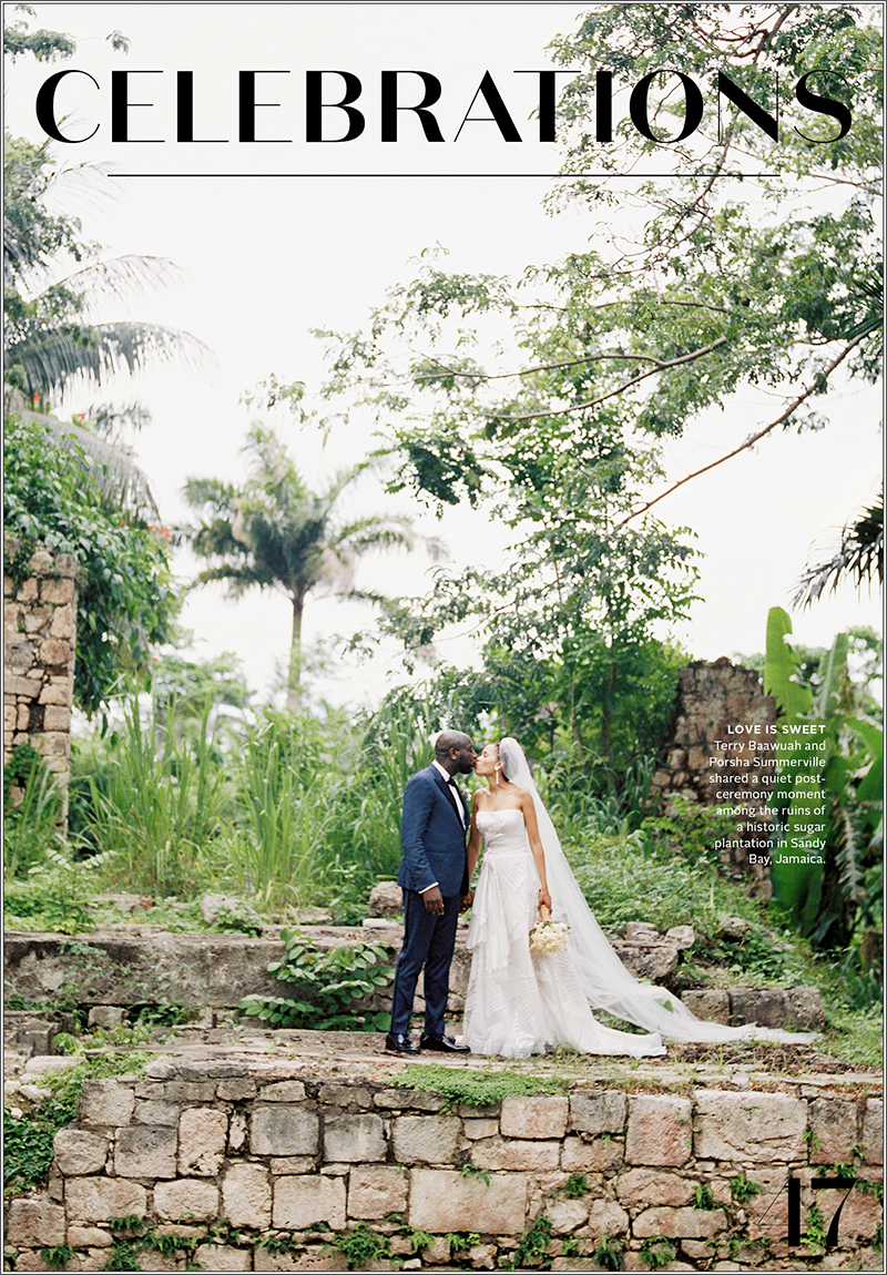 Destination wedding in Montego Bay Jamaica in Martha Stewart Weddings Magazine by Jillian Mitchell